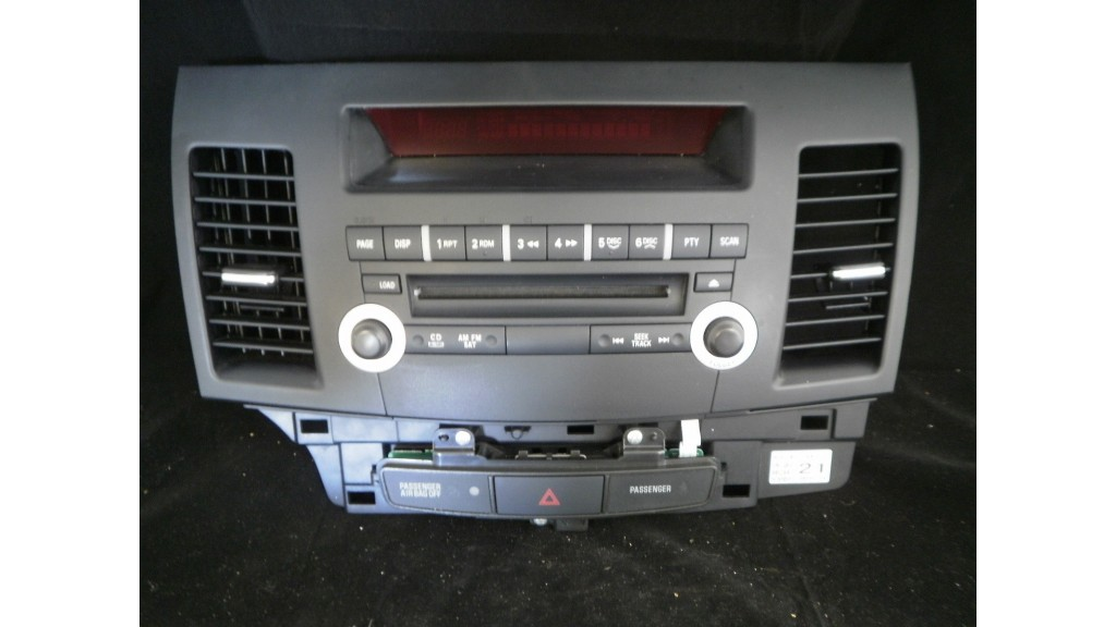 MITSUBISHI LANCER CD PLAYER RADIO DASH DISPLAY FACE 2007-2008 8002A377XA USED - Octopus Center