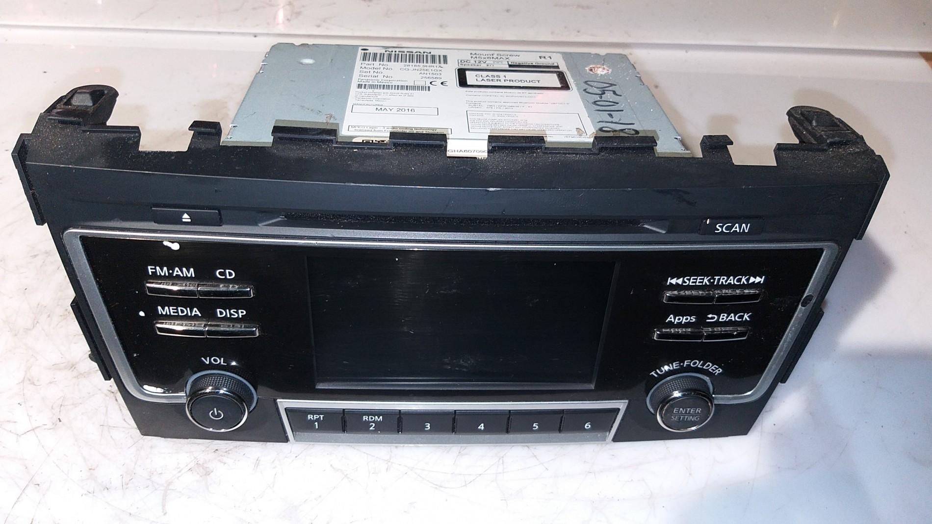 13-15 ALTIMA NISSAN  CD XM RADIO PLAYER RECEIVER 28185 3TA1C