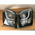 GMC YUKON BLACK LED LEFT RIGHT SET PAIR HEADLIGHTS LED 2015-2018 Anzo Switchback 111367